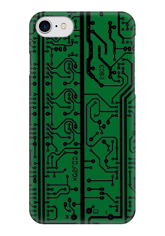 Чехол для iPhone 7 глянцевый Printio Электроника электроника в автомобиле вып 123