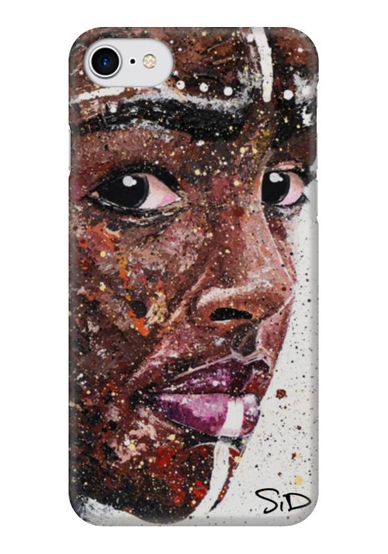 Чехол для iPhone 7 глянцевый Printio Эфиопка. серова м вся прелесть стриптиза