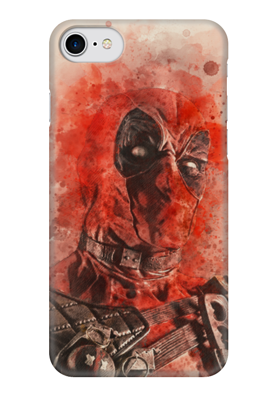 Чехол для iPhone 7 глянцевый Printio Дэдпул (deadpool) чехол для iphone 7 глянцевый printio horror art