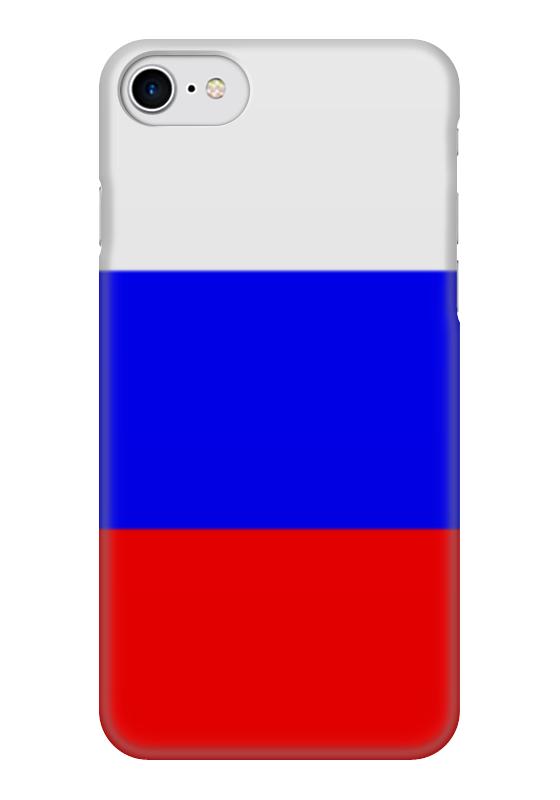 Чехол для iPhone 7 глянцевый Printio Русский флаг чехол для iphone 7 глянцевый printio русский флаг
