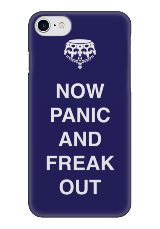 Чехол для iPhone 7 глянцевый Printio Now panic and freak out nickelback here and now