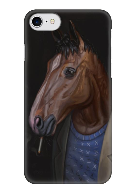 Чехол для iPhone 7 глянцевый Printio Конь боджек какой фирмы лучше фигурные конь