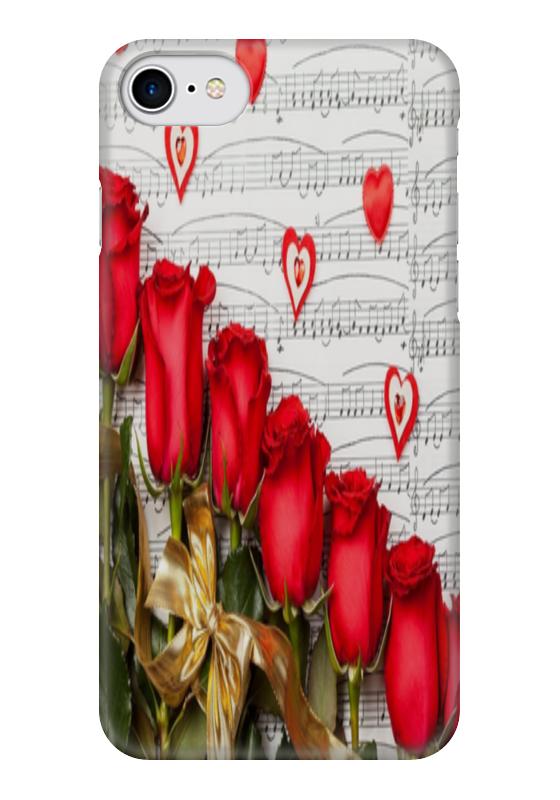 Чехол для iPhone 7 глянцевый Printio Цветы розы чехол для iphone 7 глянцевый printio альтрон мстители