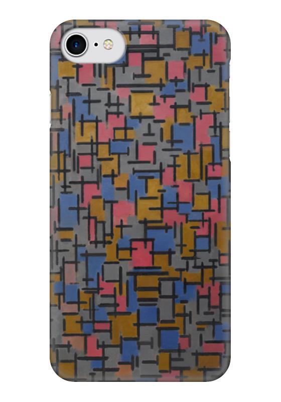 Чехол для iPhone 7 глянцевый Printio Композиция (питер мондриан) чехол для карточек пит мондриан дк2017 110