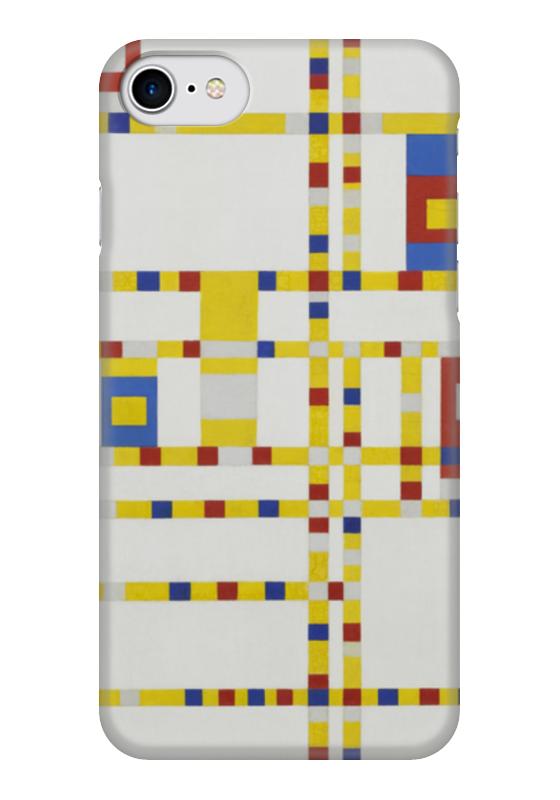 Чехол для iPhone 7 глянцевый Printio Бродвей буги-вуги (питер мондриан) чехол для samsung galaxy s5 printio бродвей буги вуги питер мондриан