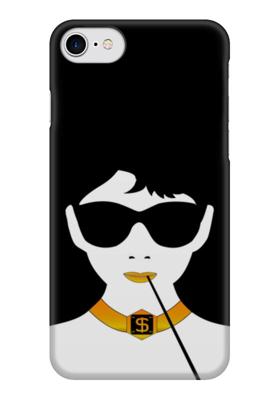 Чехол для iPhone 7 глянцевый Printio Одри хепберн женская сумка планшет с принтом черная коллекция elole design одри хепберн нат кожа