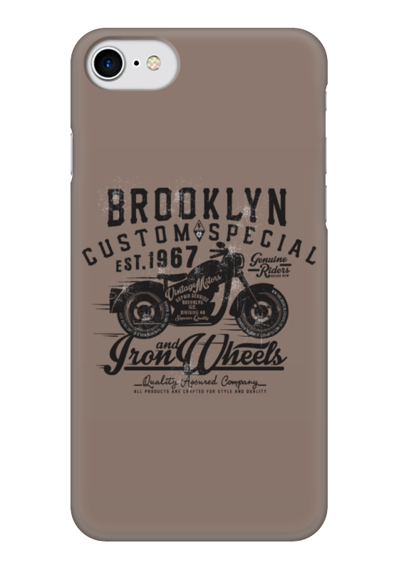 Чехол для iPhone 7 глянцевый Printio Brooklyn bike лонгслив printio brooklyn bike