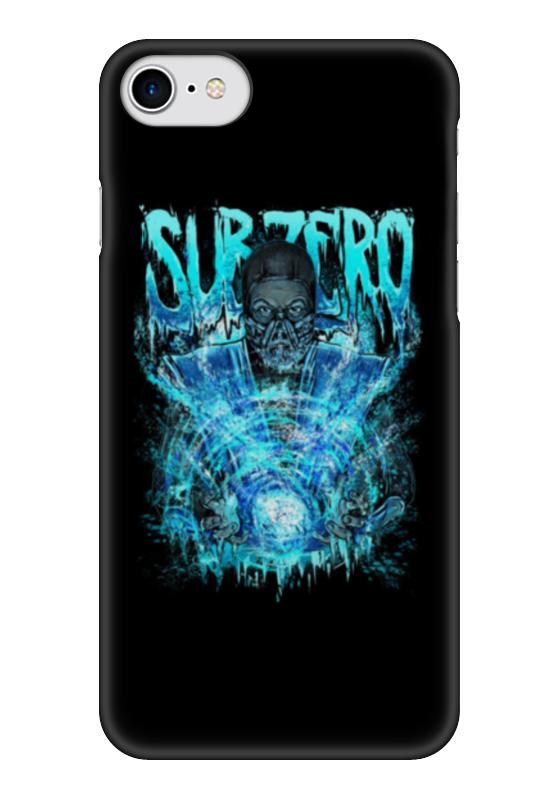 Чехол для iPhone 7 глянцевый Printio Sub-zero (mortal kombat)