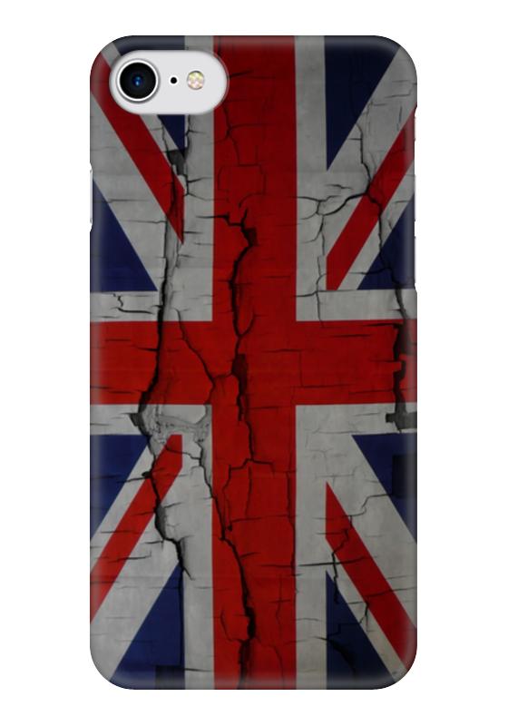 Чехол для iPhone 7 глянцевый Printio Британский флаг флаг пограничных войск россии великий новгород