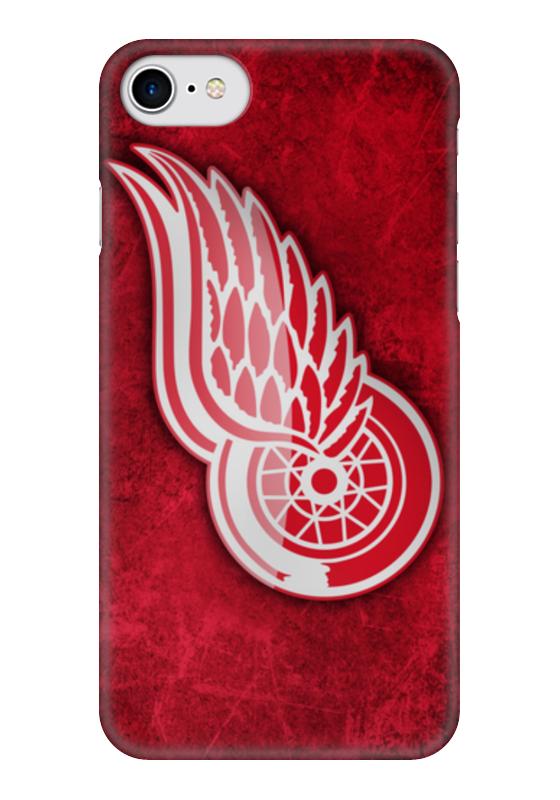 Чехол для iPhone 7 глянцевый Printio Detroit red wings чехол для iphone 5 глянцевый с полной запечаткой printio red wings detroit