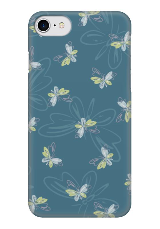 Чехол для iPhone 7 глянцевый Printio Бабочки чехол для карточек цветные совы на синем фоне дк2017 112