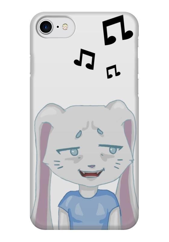 Чехол для iPhone 7 глянцевый Printio Bunny in confusion battle bunny