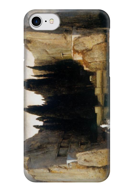 Чехол для iPhone 7 глянцевый Printio Остров мёртвых сиреневый остров раскраска