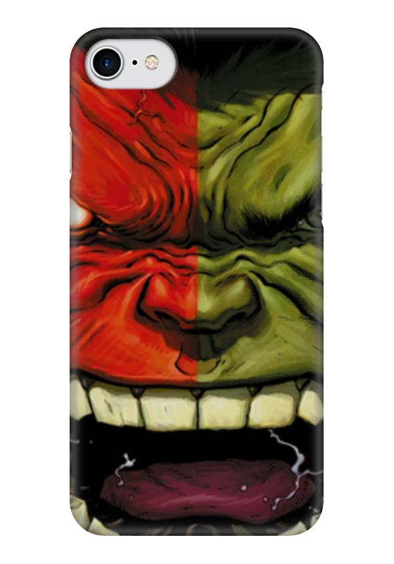 Чехол для iPhone 7 глянцевый Printio Hulk & red hulk /халк и красный халк hulk