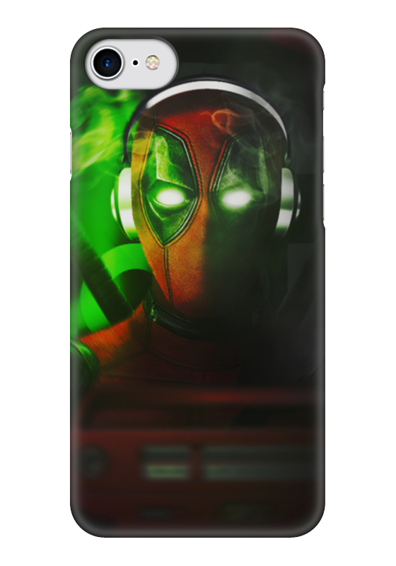 Чехол для iPhone 7 глянцевый Printio Дэдпул (deadpool) чехол для iphone 5 глянцевый с полной запечаткой printio deadpool дэдпул