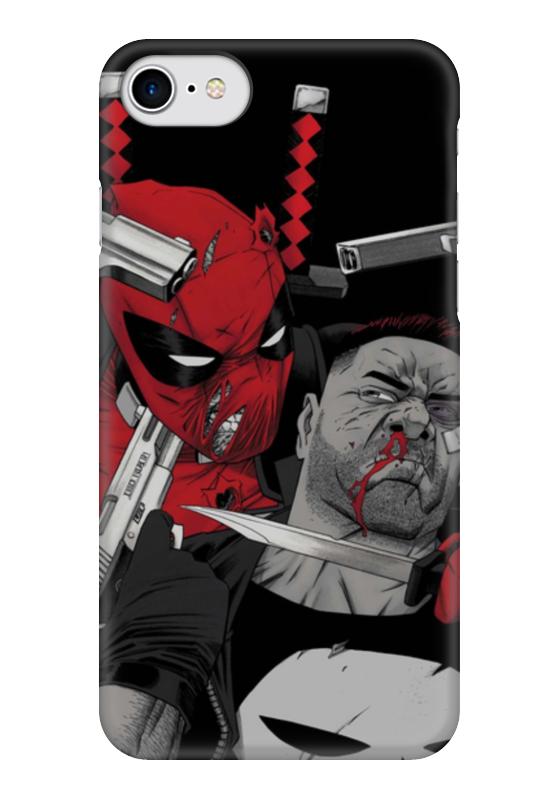 Фото - Чехол для iPhone 7 глянцевый Printio Deadpool vs punisher чехол для iphone 5 глянцевый с полной запечаткой printio deadpool vs punisher