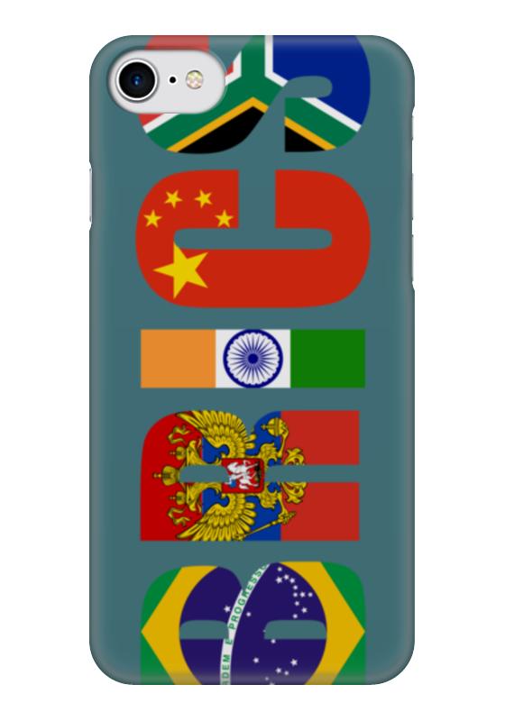 Чехол для iPhone 7 глянцевый Printio Brics - брикс чехол twelve south bookbook для iphone 5 в спб