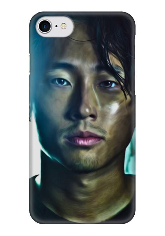 Чехол для iPhone 7 глянцевый Printio The walking dead | glenn худи print bar the walking dead