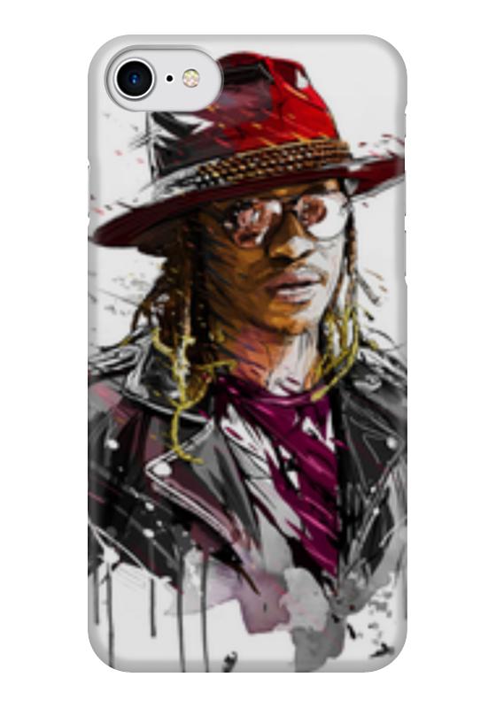Чехол для iPhone 7 глянцевый Printio Человек в шляпе чехол для iphone 6 глянцевый printio молодая женщина в соломенной шляпе