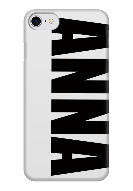 Чехол для iPhone 7 глянцевый Printio С именем анна чехол для iphone 5 printio с именем анна