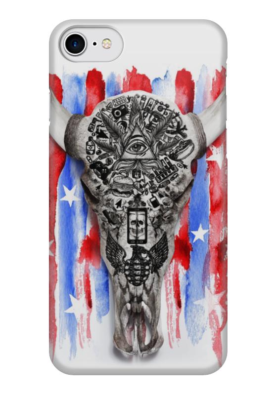 Чехол для iPhone 7 глянцевый Printio Американские боги книга американские боги