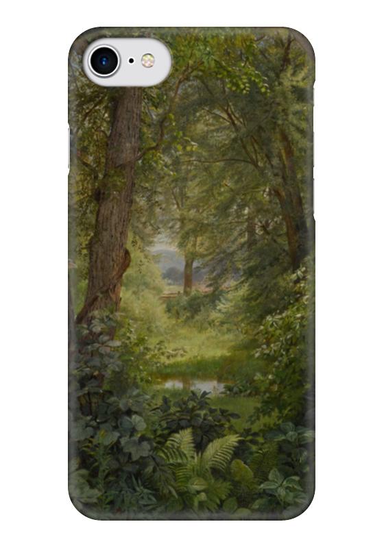 Чехол для iPhone 7 глянцевый Printio Лесной пейзаж (woodland landscape)