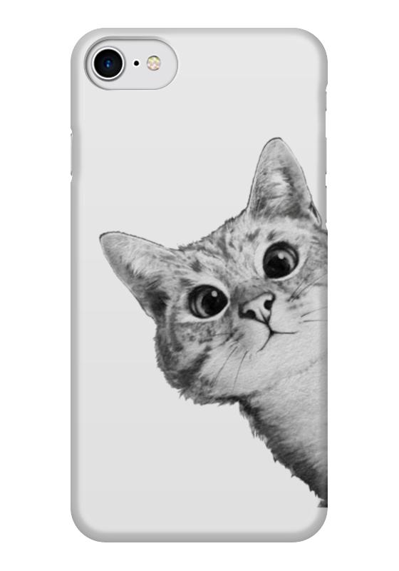 Чехол для iPhone 7 глянцевый Printio Любопытный кот чехол для iphone 6 глянцевый printio кот бу