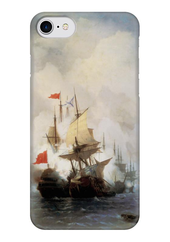 Чехол для iPhone 7 глянцевый Printio Бой в хиосском проливе (айвазовский) настенные часы русский меценат рм 775