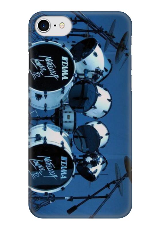 Чехол для iPhone 7 глянцевый Printio Metallica lars ulrich drums hans ulrich obrist