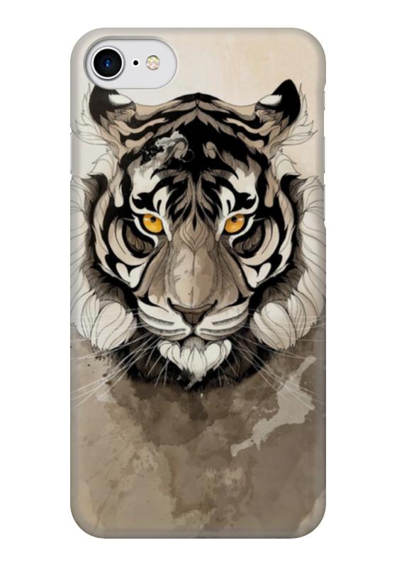 Чехол для iPhone 7 глянцевый Printio Тигр чехол для iphone 7 глянцевый printio horror art