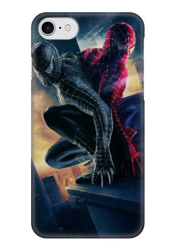 Чехол для iPhone 7 глянцевый Printio Человек - паук платье без рукавов printio семейная лодка