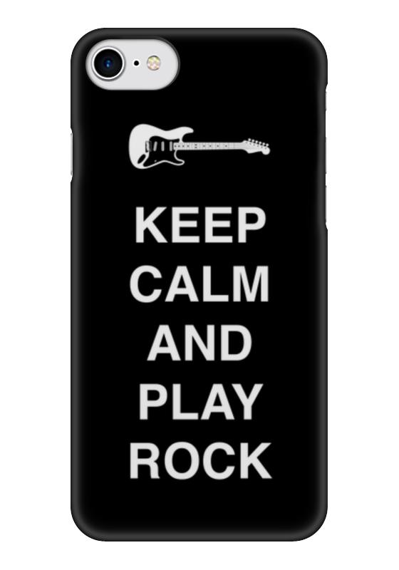 Чехол для iPhone 7 глянцевый Printio Keep calm and play rock чехол для iphone 7 глянцевый printio keep calm and play rock