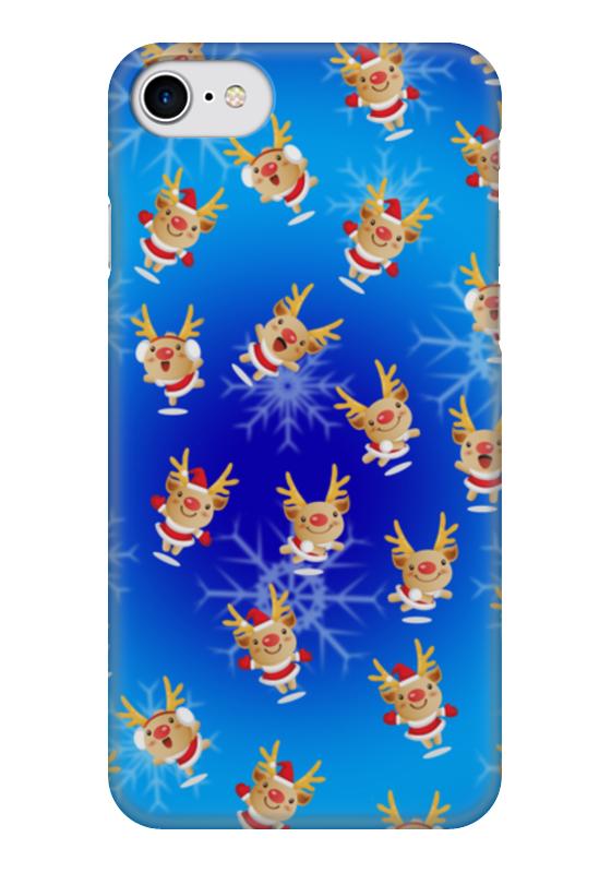 Чехол для iPhone 7 глянцевый Printio Рождественские олени коровин в сост рождественские стихотворения