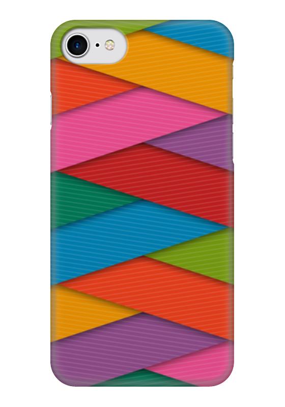 Чехол для iPhone 7 глянцевый Printio Яркие полосы чехол для iphone 7 глянцевый printio альтрон мстители