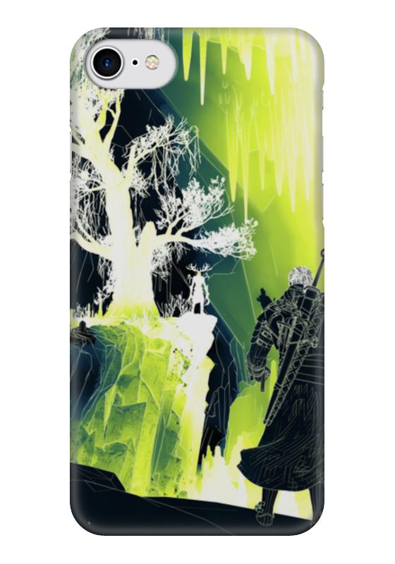 Чехол для iPhone 7 глянцевый Printio Ведьмак 3 дикая охота