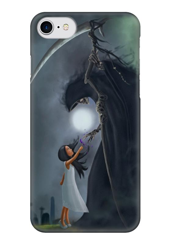 Чехол для iPhone 7 глянцевый Printio Смерть и девочка