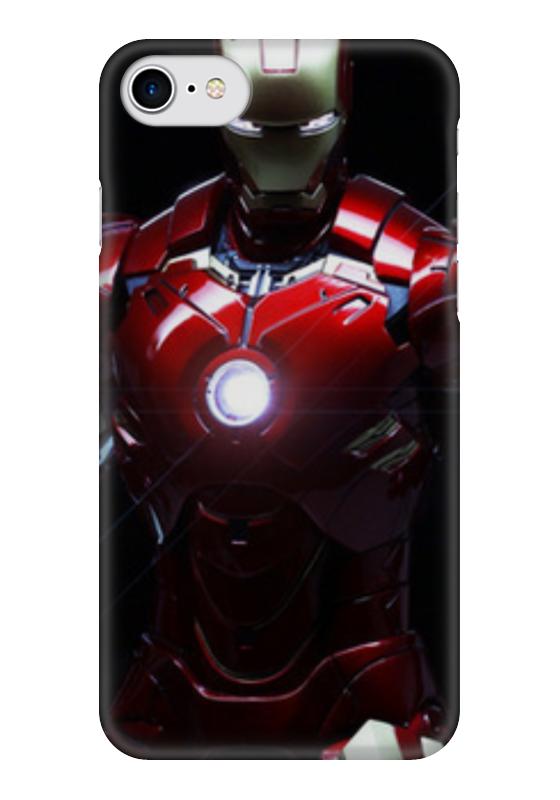 Чехол для iPhone 7 глянцевый Printio Iron man чехол для iphone 7 глянцевый printio альтрон мстители