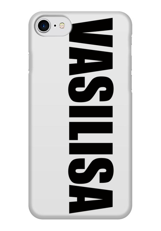 Чехол для iPhone 7 глянцевый Printio С именем василиса цена