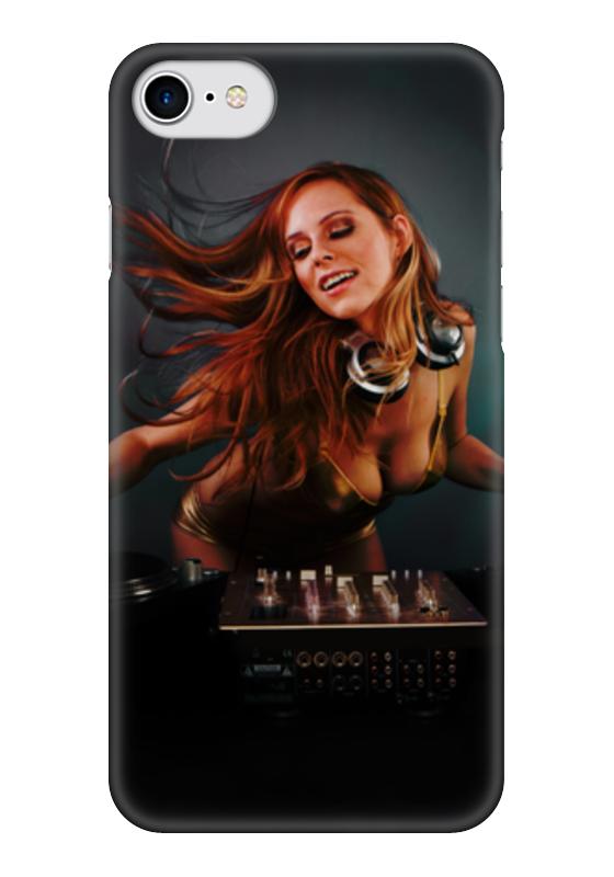 Чехол для iPhone 7 глянцевый Printio Dj music