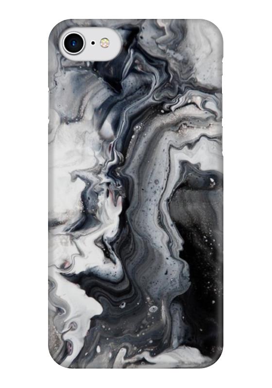 Чехол для iPhone 7 глянцевый Printio Мрамор (2)