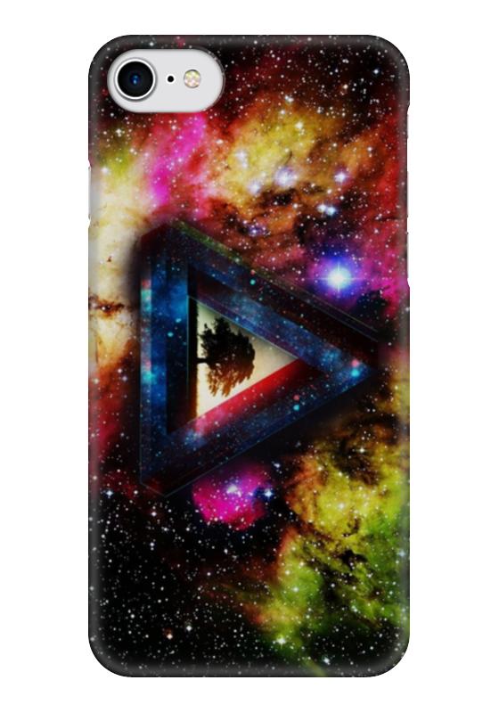 Чехол для iPhone 7 глянцевый Printio Pink floyd (космос) стоимость