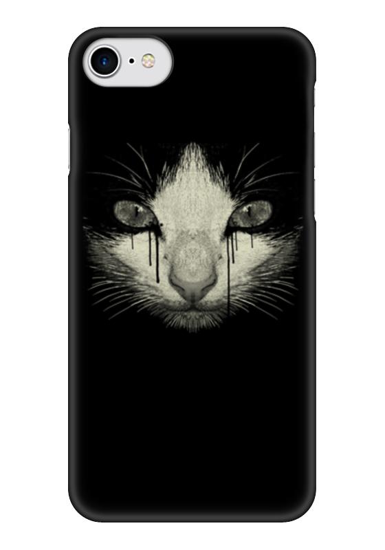 Чехол для iPhone 7 глянцевый Printio Cat night стоимость