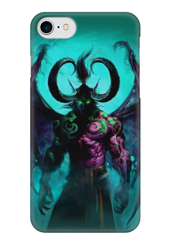 Чехол для iPhone 7 глянцевый Printio Warcraft collection: illidan эспадрильи zenden collection zenden collection ze012agpre18