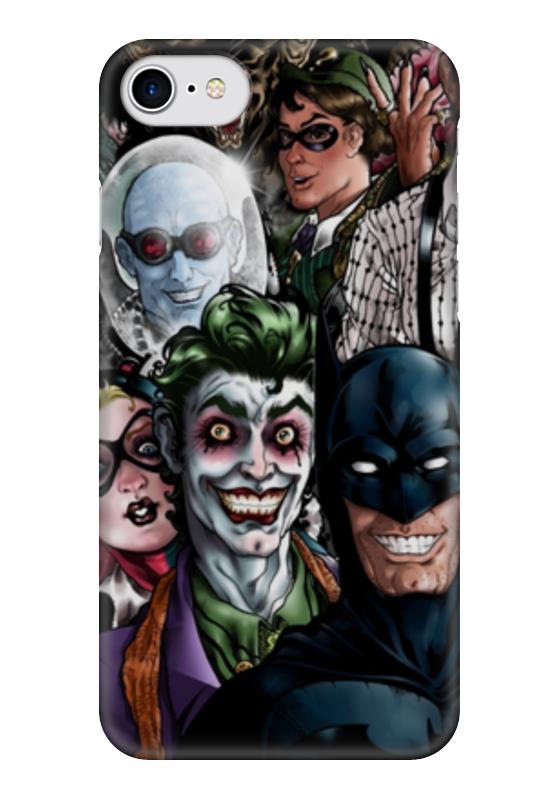Чехол для iPhone 7 глянцевый Printio Batman чехол для iphone 7 глянцевый printio skull art