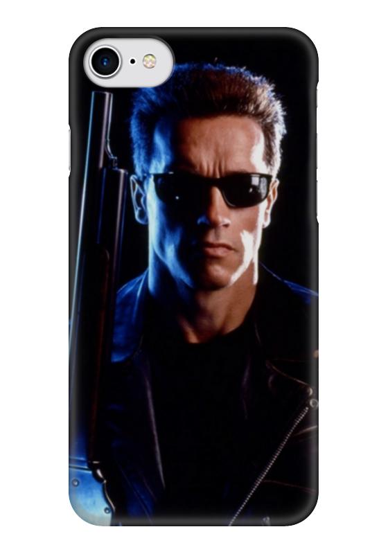 Чехол для iPhone 7 глянцевый Printio Терминатор чехол для iphone 7 глянцевый printio horror art