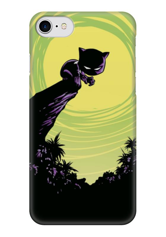 Чехол для iPhone 7 глянцевый Printio Черная пантера сумка printio черная пантера