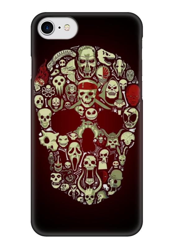Чехол для iPhone 7 глянцевый Printio Skull art чехол для iphone 7 глянцевый printio альтрон мстители