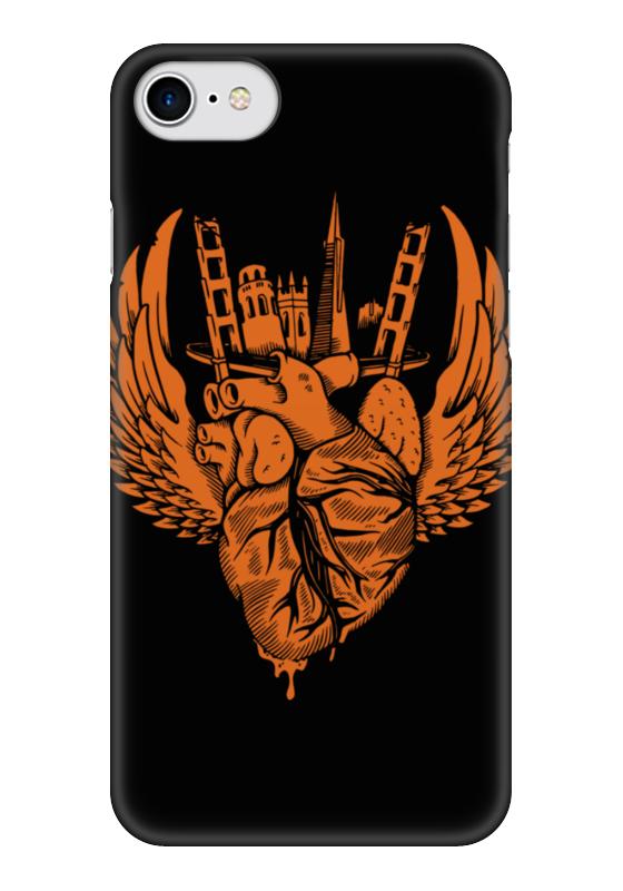 Чехол для iPhone 7 глянцевый Printio Heart city / серде города чехол для iphone 7 глянцевый printio sweet heart