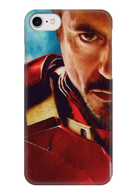 Чехол для iPhone 7 глянцевый Printio Iron man mekiculture embossed pc hard shell for iphone 7 4 7 cool iron man