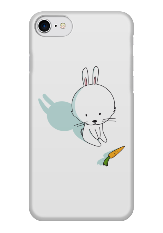 Чехол для iPhone 7 глянцевый Printio Кролик с морковкой